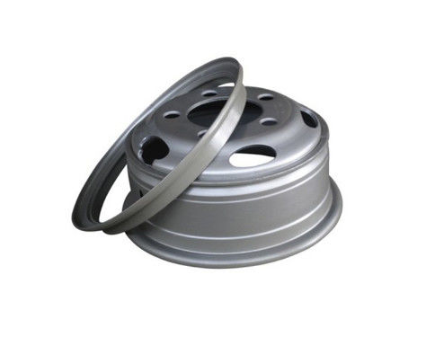 Heavy Truck Steel Alloy Wheel Rim Professional With 21 - 24 Inch Diameter